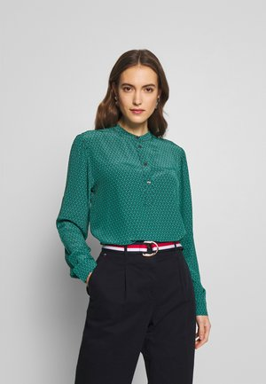 DION OVER BLOUSE - Bluser - dusty teal/black