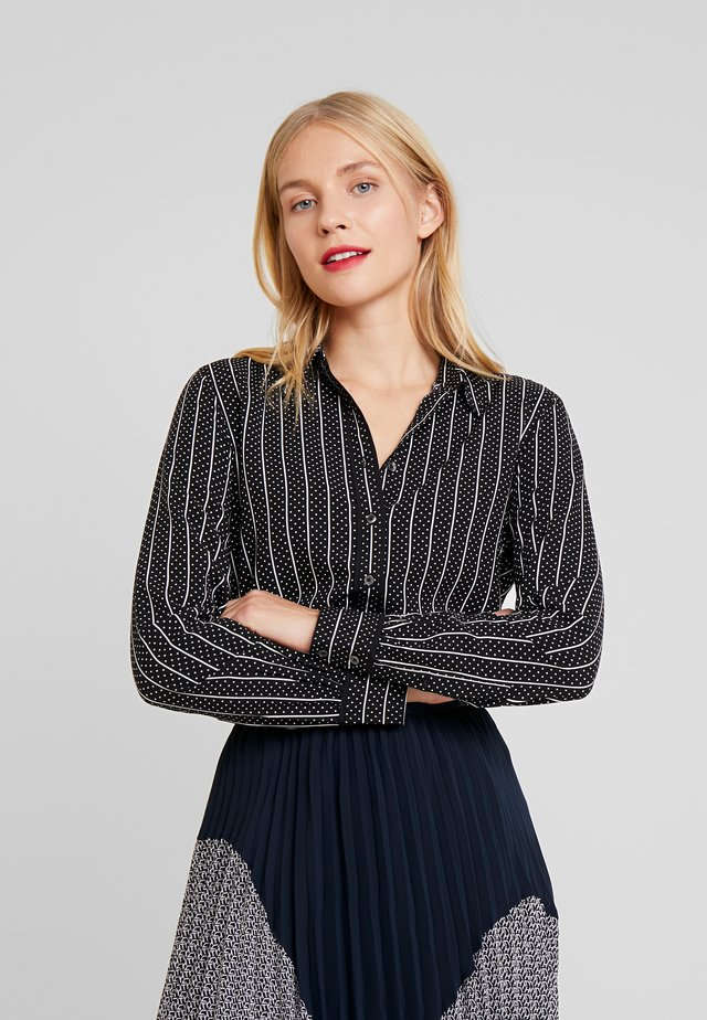 DANEE BLOUSE - Button-down blouse - black