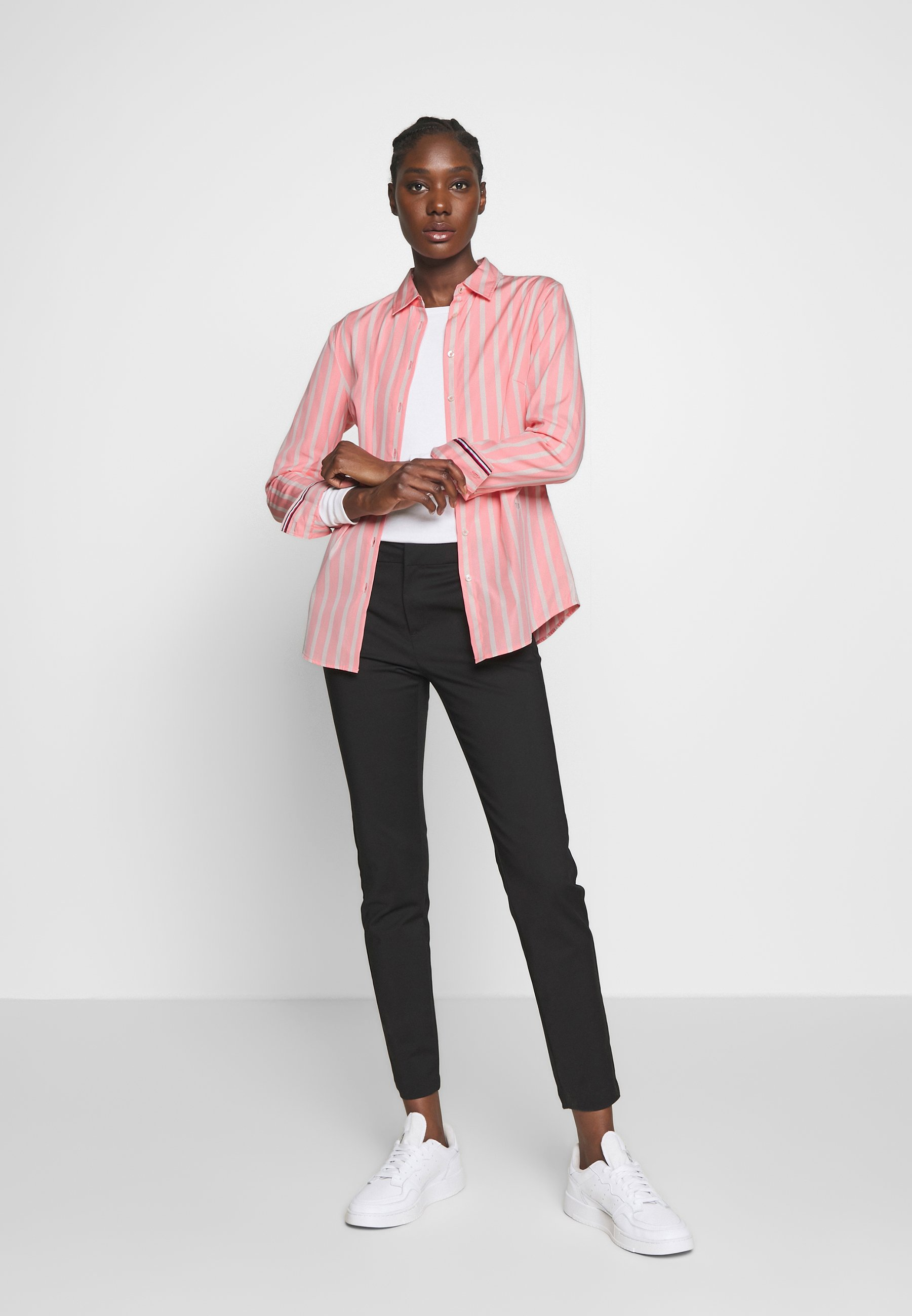 Tommy Hilfiger Essential - Camicia Bitonal/pink Grapefruit