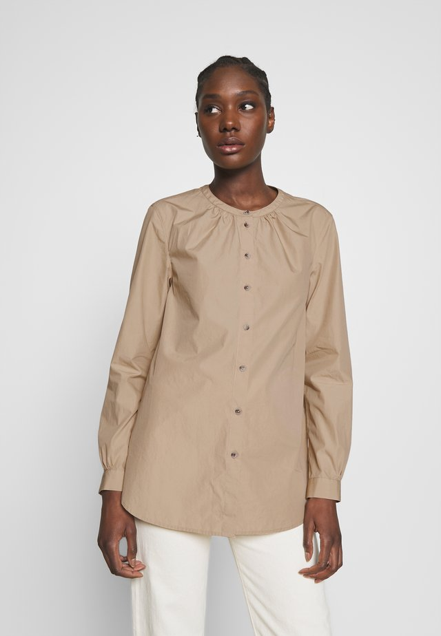 TH ESSENTIAL LEASHIRT LS W4 - Bluzka - beige