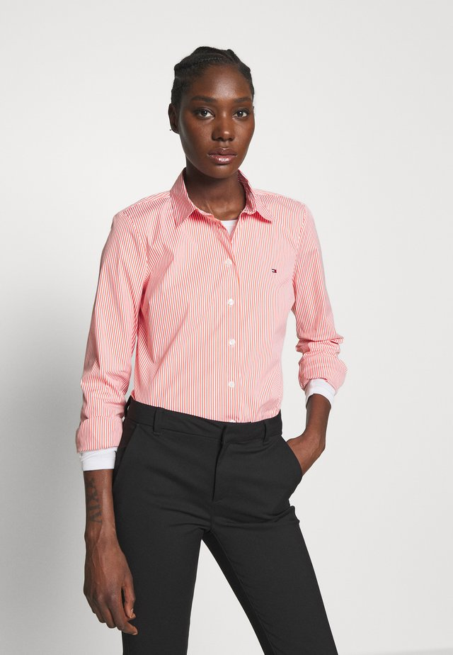 ESSENTIAL - Button-down blouse - bright vermillion