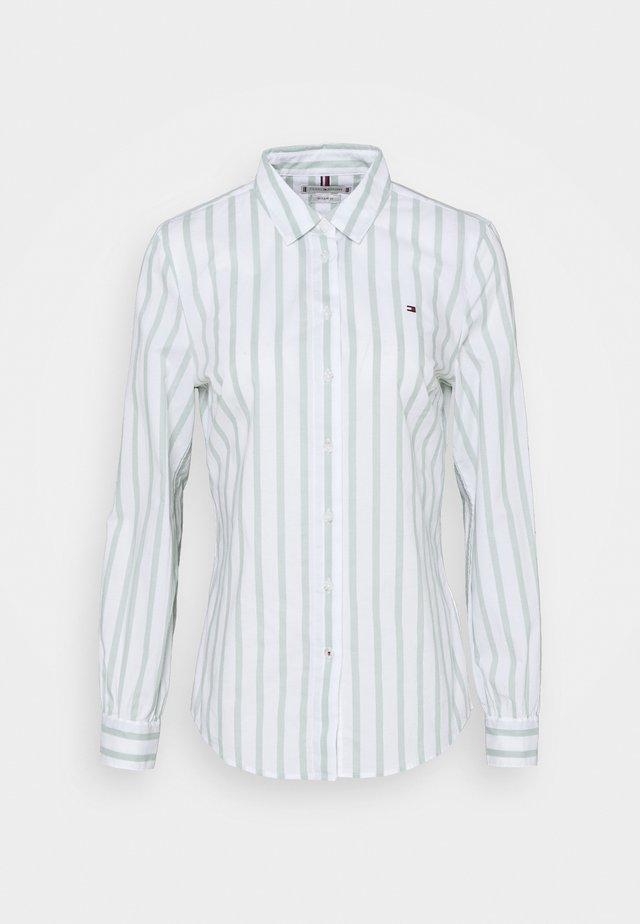 LACIE - Button-down blouse - sea mist/white
