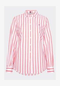 Tommy Hilfiger - LACIE  - Button-down blouse - bitonal stp bright vermillion - 4