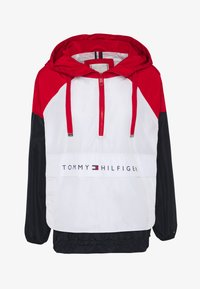 Tommy Hilfiger - CORY PACKABLE POPOVER - Lehká bunda - white red - 4