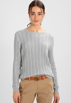 PASCALINO CABLE  - Pullover - light grey heather