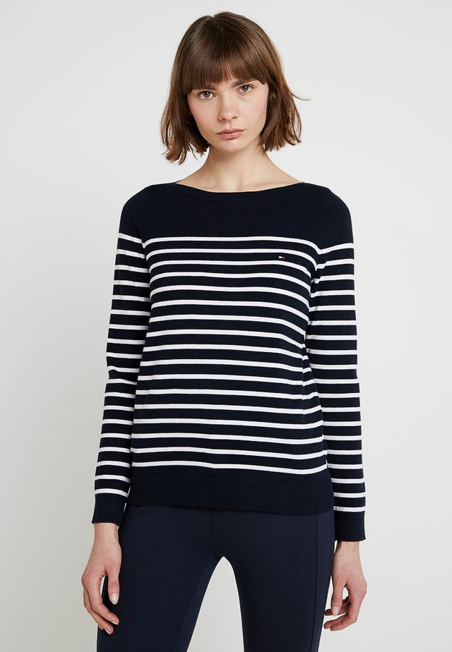 HERITAGE BOAT - Sweter - midnight/classic white