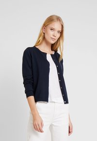 Tommy Hilfiger - HERITAGE BUTTON UP CARDIGAN - Cardigan - midnight - 0