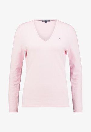 HERITAGE V NECK  - Sweter - cradle pink
