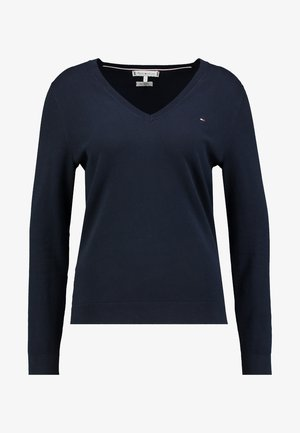 HERITAGE V NECK  - Jumper - midnight