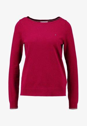 NEW IVY BOAT - Stickad tröja - red
