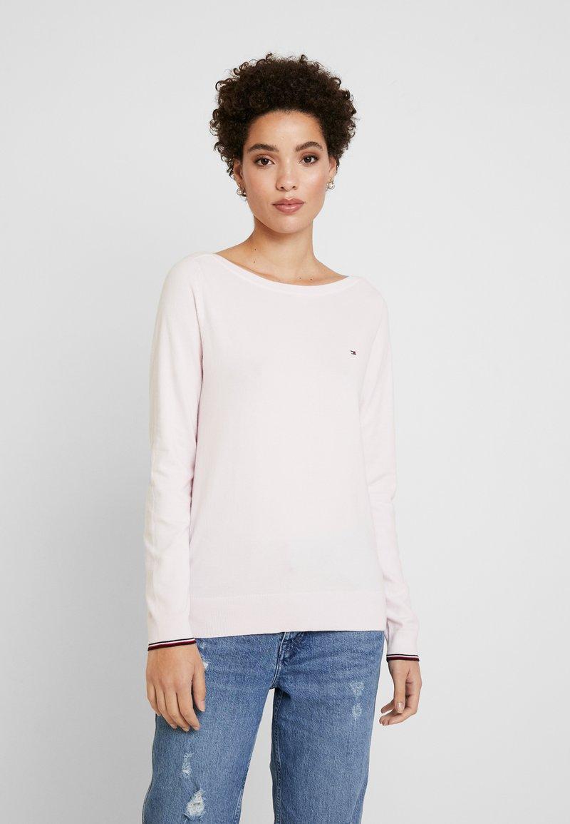 Tommy Hilfiger - NEW IVY BOAT - Sweter - light pink