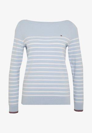 NEW IVY BOAT - Strikkegenser - classic white/breezy blue