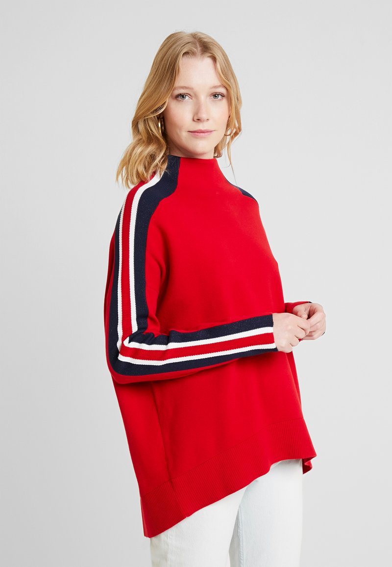 Tommy Hilfiger - MAISY MOCK - Strickpullover - red