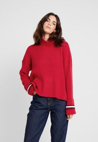 Tommy Hilfiger - HASEL ROLL - Pullover - red - 0