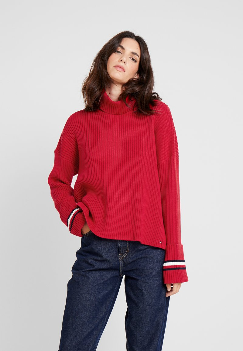 Tommy Hilfiger - HASEL ROLL - Strickpullover - red