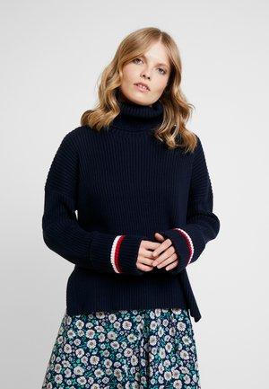 HASEL ROLL - Stickad tröja - blue