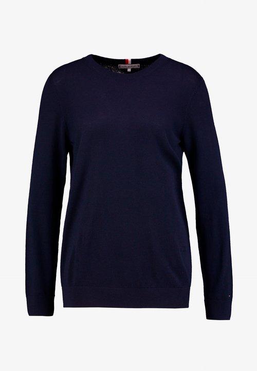 30% OBNIŻONE Tommy Hilfiger ESSENTIAL - Sweter - blue Odzież Damska LWDH-EX5