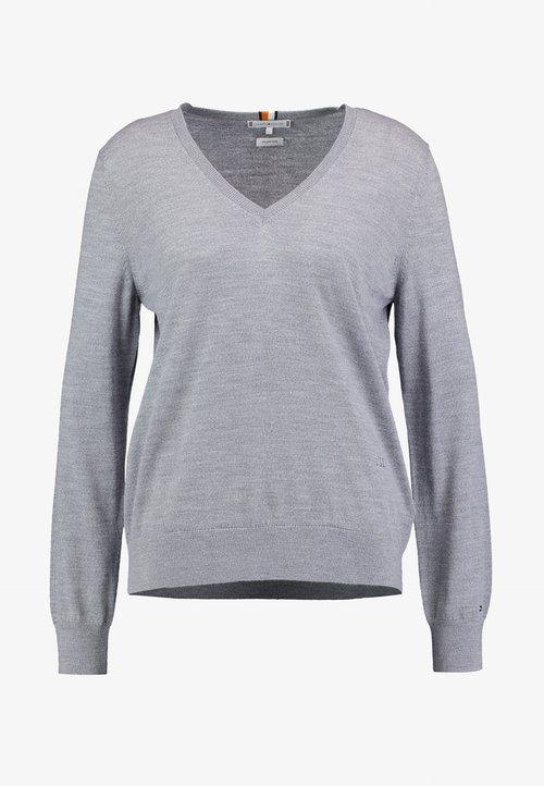 Tommy Hilfiger ESSENTIAL - Sweter - grey Odzież Damska OWTU-JB5 w ofercie