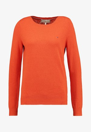 SANIA BOAT NECK - Strickpullover - red