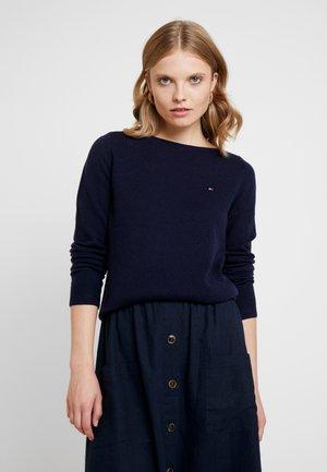 SANIA BOAT NECK - Pullover - blue