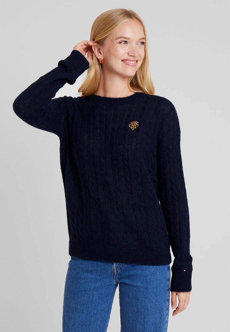Tommy Hilfiger - ESSENTIAL CABLE - Jumper - blue