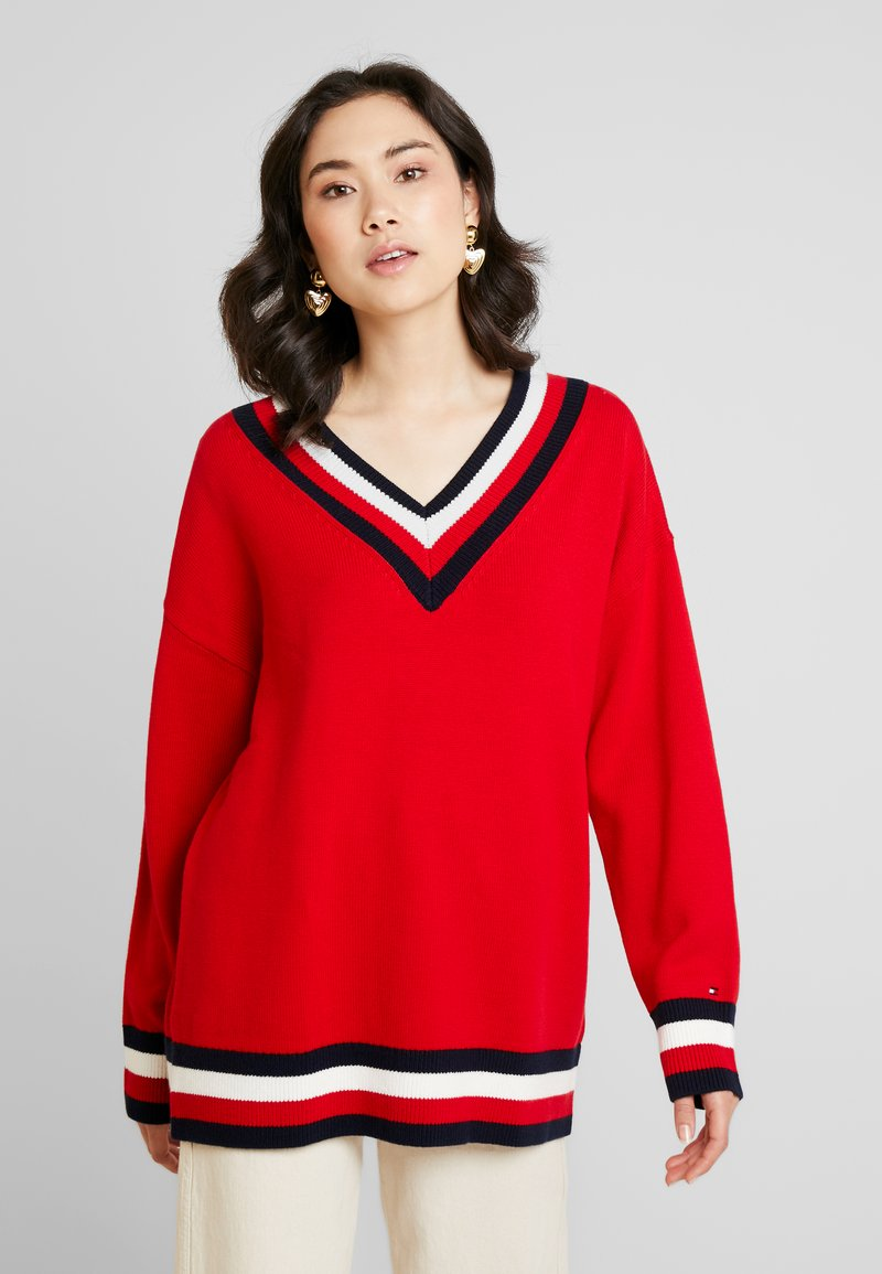 Tommy Hilfiger - ESSENTIAL TIPPING - Maglione - red