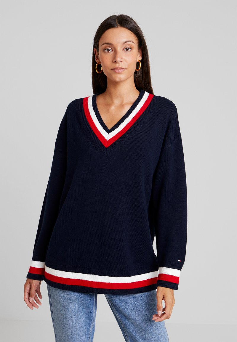 Tommy Hilfiger - ESSENTIAL TIPPING - Jumper - blue