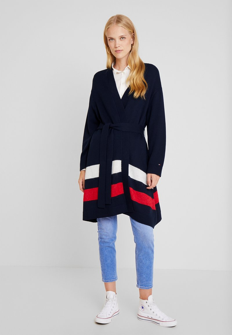 Tommy Hilfiger - MARIKA BELTED - Strickjacke - blue