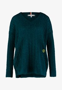 Tommy Hilfiger - ESSENTIAL CABLE - Maglione - green - 4