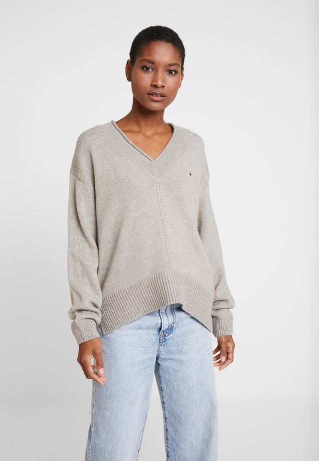 CEVIE V-NK - Jersey de punto - light grey heather