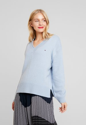 CEVIE V-NK - Pullover - breezy blue