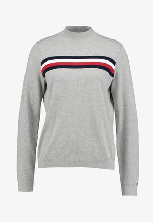 JENEE MOCK - Neule - light grey heather