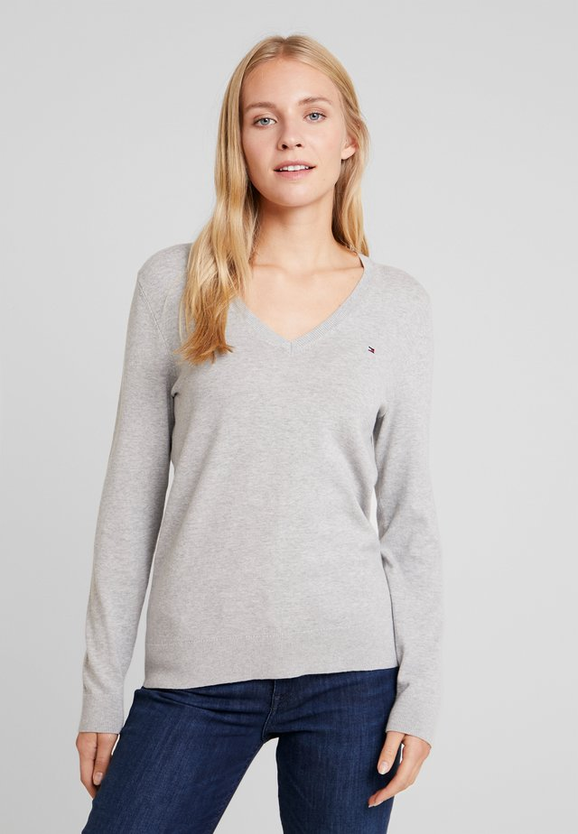 Sweter - light grey heather
