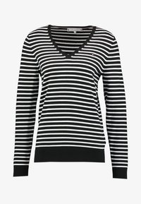 Tommy Hilfiger - Strikkegenser -  black/white - 3