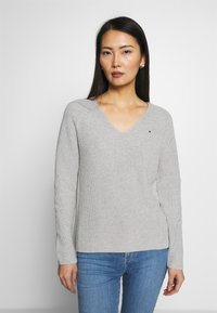 Tommy Hilfiger - HAYANA  - Strikkegenser - light grey heather - 0