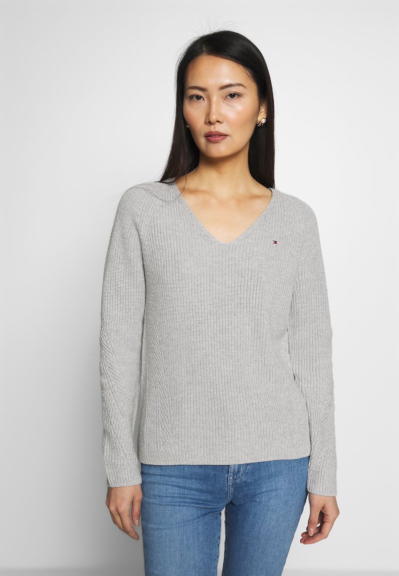Tommy Hilfiger - HAYANA  - Strikkegenser - light grey heather