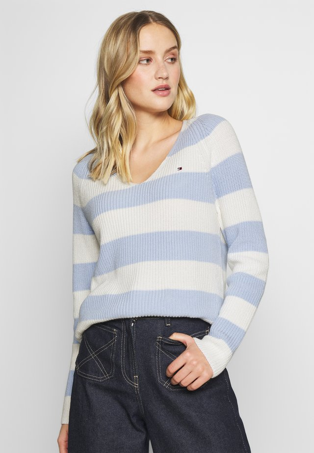 HAYANA  - Sweter - breezy blue/white