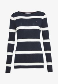 Tommy Hilfiger - STRIPE CABLE BOAT - Sweter - navy/snow white - 3