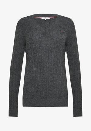 INJ MINI CABLE  - Strickpullover - dark grey heather