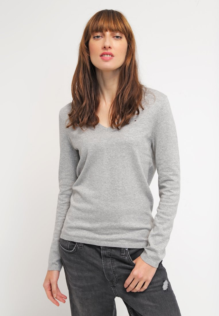Tommy Hilfiger - NEW IVY - Sweter - light grey heather