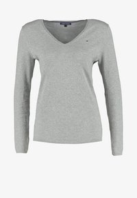 Tommy Hilfiger - NEW IVY - Sweter - light grey heather - 5