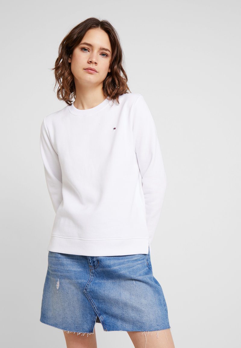 Tommy Hilfiger - HERITAGE CREW NECK  - Mikina - classic white