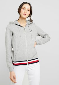 Tommy Hilfiger - HERITAGE ZIP THROUGH HOODIE - veste en sweat zippée - light grey - 0