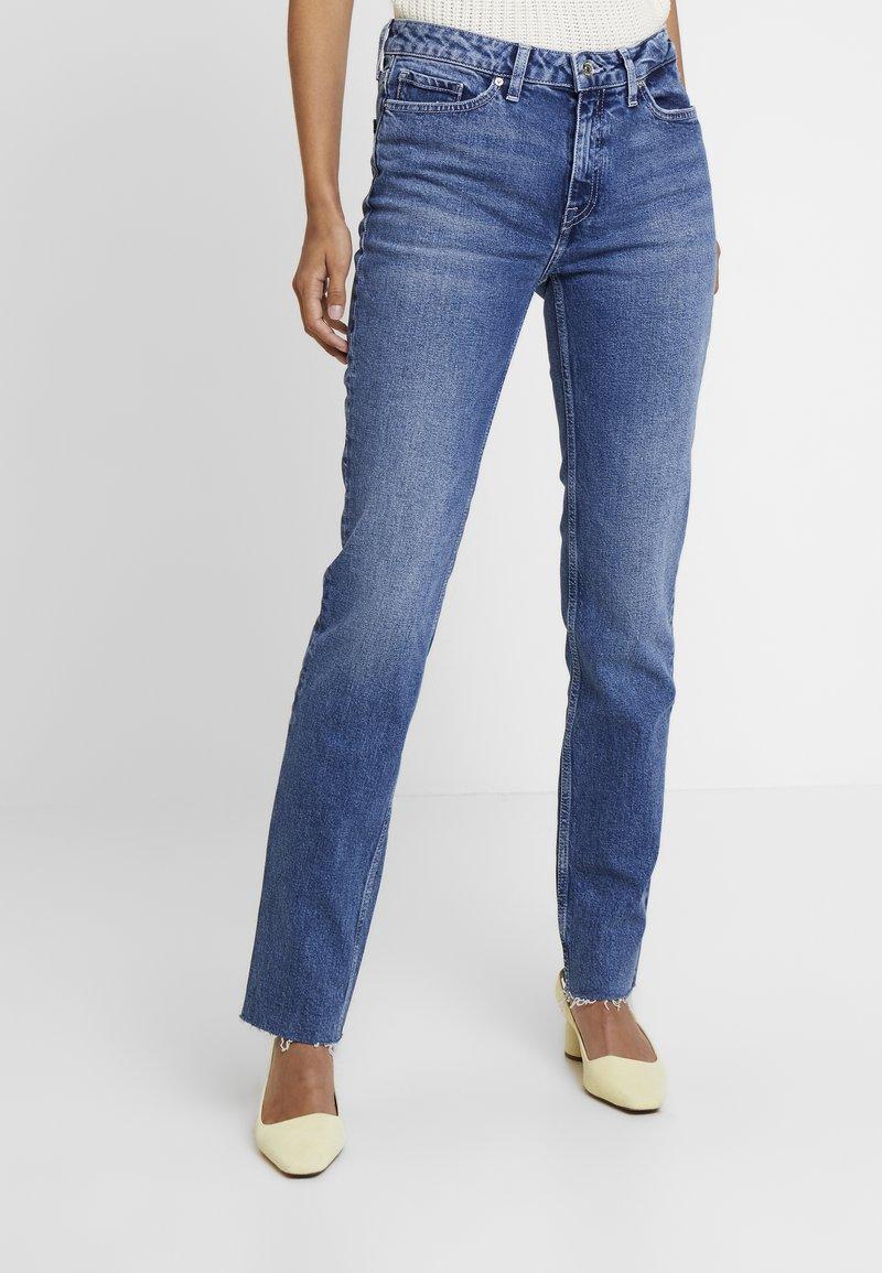 Tommy Hilfiger - ROME ANKLE NATI - Straight leg jeans - blue denim