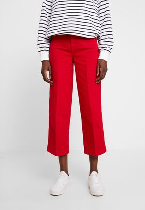 BELL BOTTOM - Straight leg jeans - primary red