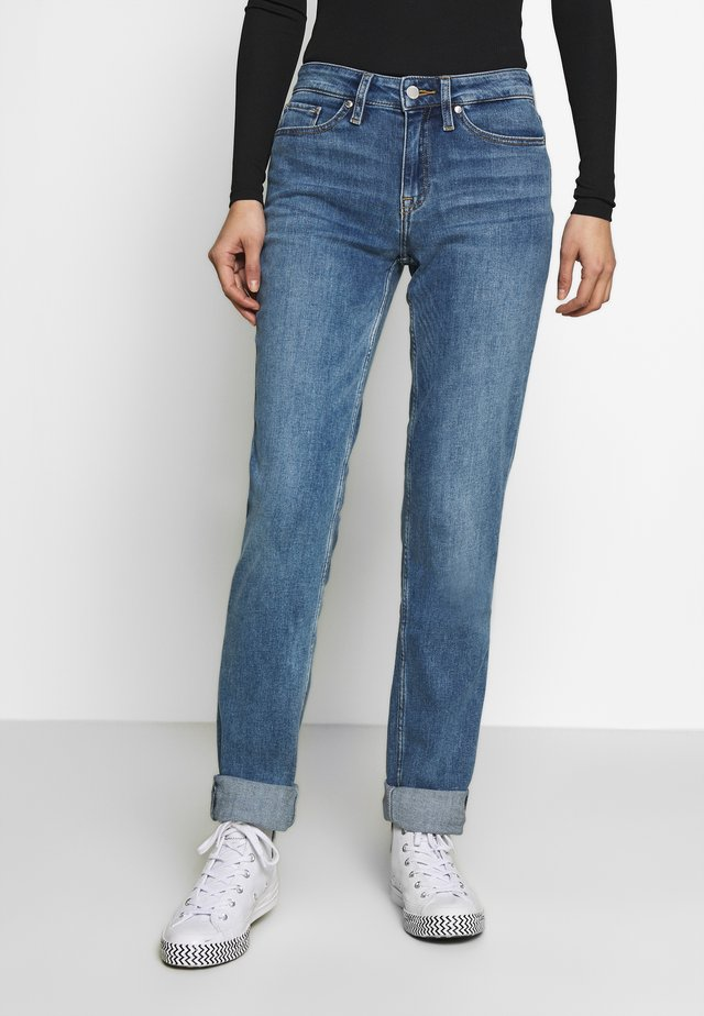 ROME - Straight leg jeans - dark-blue denim