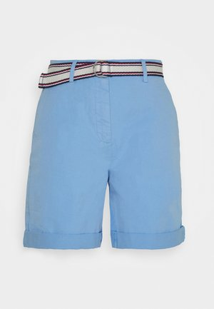 POPLIN HIGH WAIST - Short - light iris blue
