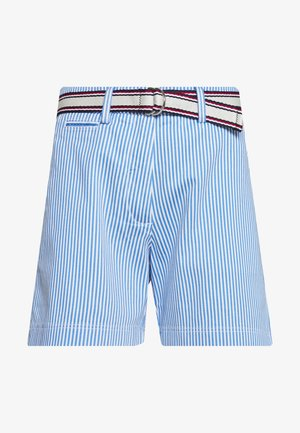 STRIPED BERMUDA - Short - ithaca blue/white