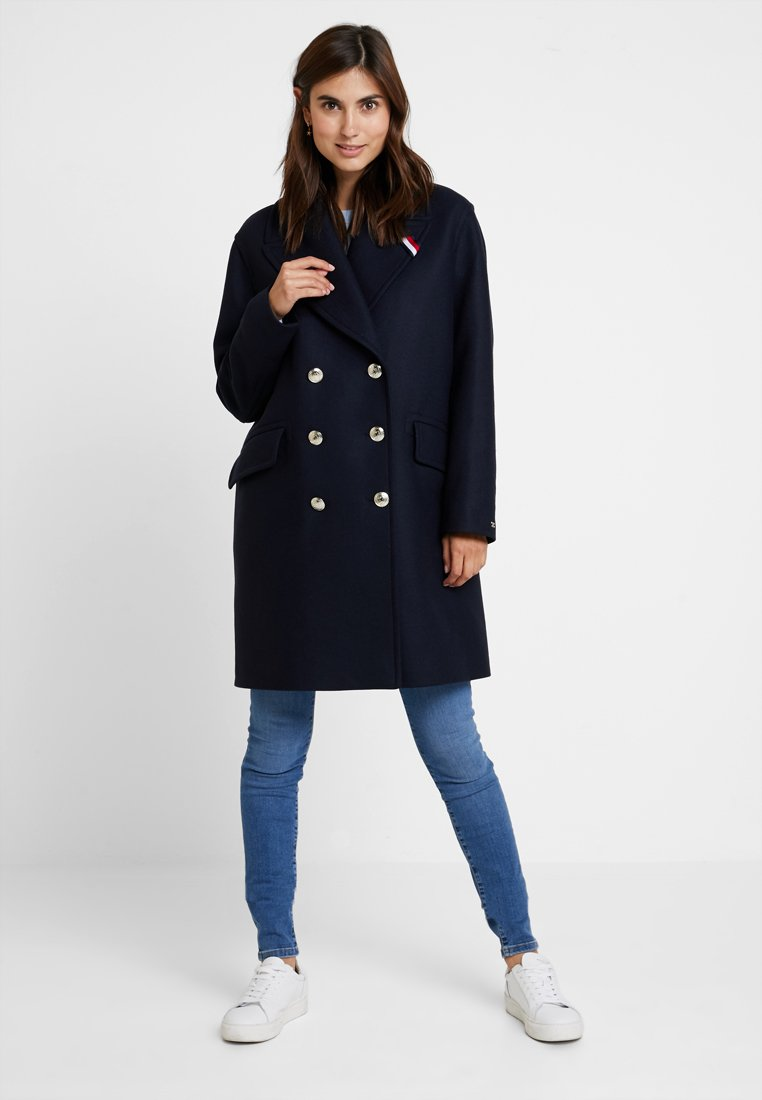 Tommy Hilfiger - BELLE BLEND GREAT COAT - Zimní kabát - blue