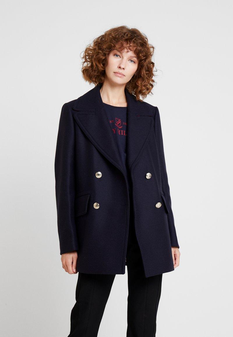 Tommy Hilfiger - ESSENTIAL BLEND PEACOAT - Classic coat - blue
